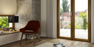 DF-Sistemi-Serramenti-e-Porte-Studio-con-porta-finestra-Platinium-Evolution